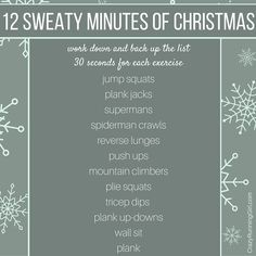 12 sweaty minutes of Christmas - Crazy Running Girl Wod Workout, Workout Challenge, Sweat Workout, Fit Girl Motivation, Fitness Motivation, Fun Workouts, At Home Workouts, Movie Workouts, Summer Workouts