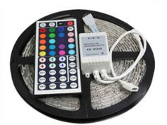 5M RGB led strip SMD 3528 Waterproof 300 Led Strip Light + 44 Keys IR Remote