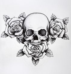 skull with roses tattoo 39 s pinterest tattoo tatting and piercing