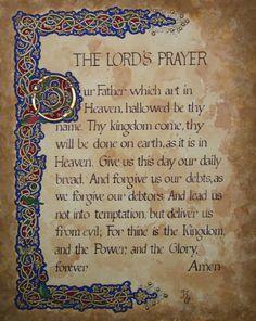 The Lords Prayer Artwork - Giclee Print