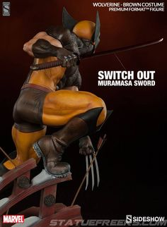 Wolverine Sideshow Premium Format - Exclusive version will have an switch out hand with sword/blade