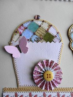 By Michaela Laurie of Paper Quilt Creations Paper Quilt, Cupcake, Coin Purse, Quilts, Detail, Coin Purses, Quilt Sets, Cupcakes, Quilt