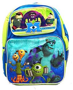 baaa3dcd776 Disney Monsters University Mike Sulley Large Backpack Bag Purse tote 16      Want additional