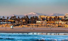 this town has it all. Surf City, California Dreamin', Huntington Beach, Mount Rainier, Paris Skyline, Surfing, Mountains, Sunset, Nature