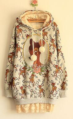 vintage deer sweater.  So incredibly NOT vintage, OP. But undeniably adorable.