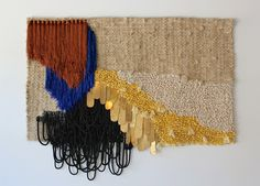 Large weaving by Janelle Pietrzak.
