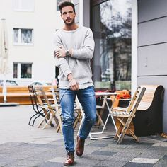 Sunday mood* Have a nice day!  Pullover: @selected_official  Jeans: @zara  Boots: @hudsonshoes  #selectedhomme