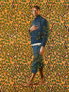 "Napoleon in his Study, 2012  Oil on canvas 96"" x 72""  -Kehinde Wiley"