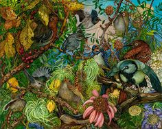 Natural Disguise: Paintings of Dense Gardens by Judy Garfin | Faith is Torment | Art and Design Blog