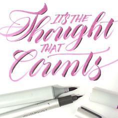 Copic calligraphy by Melissa Esplin of istilllovecalligraphy.com