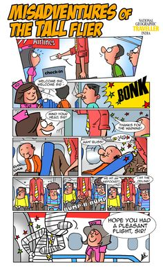 Travel Humour: The Misadventures Of The Tall Flier Travel Humor, Cool Art Drawings, Facebook Sign Up, The Funny, Humor