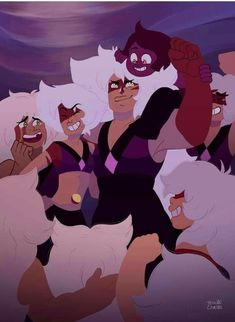 Jasper Steven Universe, Amethyst Steven Universe, Jasper Su, Cn Cartoon Network, Rock Family, First Animation, Lapidot, Universe Art, Cartoon Games