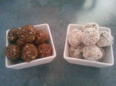 Banana Bliss Balls and Choc Date Balls
