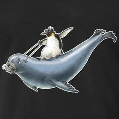 shirt motiv pinguin seelöwe surfen nordic surfing - Männer Premium T-Shirt