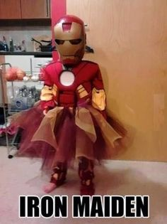 When your daughter loves superheroes.