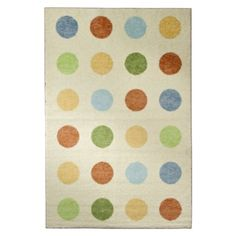 Creamy Ivory Rug with Multi Color Dots by Mohawk.Opens in a new window