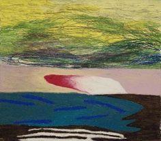 Linda Whitaker  Visalia 1986 Oil Pastel on Paper