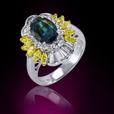 Royale Collection Ring by MarkHenry Mark Henry, Alexandrite Jewelry, Red Diamonds, Jewelry Watches, Sapphire, Gems, Glamour, Jewels, Opals