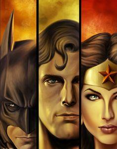 #Batman, #Superman, and #WonderWoman DC Comics  http://www.vandorproducts.com
