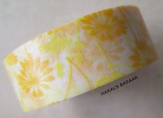 Washi Tape  1 Roll  Mixed Yellow Dandelions   by HazalsBazaar, $4.00