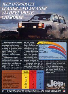 Jeep Cherokee Ad (1984)