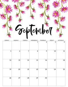 September 2021 Calendar PDF Printable Templates Cute Calendar, Print Calendar, Kids Calendar, Calendar Pages, 2021 Calendar, Monthly Planner Printable, Printable Calendar Template, Free Printables, Bullet Journal Calendrier