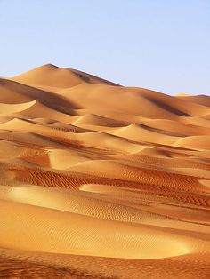 - The deserts are sprinkled with sand dunes. Dunes are an accumulation of sand grains shaped into a mound or ridge by the wind under the influence of gravity. Desert Dunes, Beautiful World, Beautiful Places, Rub' Al Khali, Dame Nature, Desert Life, Planet Earth, Beautiful Landscapes, Nature Photography