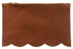 Tilly Leather Mini Pouch, Saddle Brown