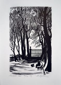 Сердюков Владимир Иванович - Летний сад, Ксилография ::: Sommergarten (St. Petersburg), Holzschnitt  ::: Summer Garden, Saint Petersburg, Woodcut