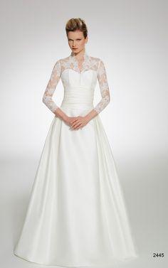 Elegan Long Sleeves A Line Wedding Dress White Ivory Size 2 4 6 8 10 12 14