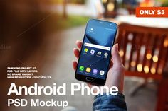 Android Phone PSD Mockup by JÉSHOOTS.com on @creativemarket
