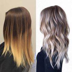 before Habit Salon Onbre Hair, Hair Day, Ash Blonde Hair, Pretty Hairstyles, Baddie Hairstyles, Weave Hairstyles, Short Hairstyles, Wedding Hairstyles, Hair Highlights