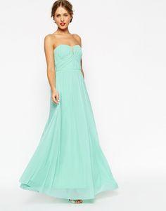 Image 1 ofASOS WEDDING Ruched Bodice Bandeau Maxi Dress