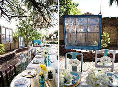Ideas For Old Wooden Doors | Real Wedding: Catie + Ben's Vintage Inspired Backyard Wedding ...
