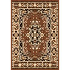 Spectrum Chelsea Traditional Persian Brown Area Rug - 12' x 15', Size 12' x 15' (Polypropylene, Medallion)
