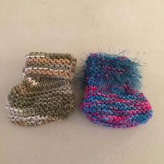 If you need a small gift for a baby shower, check out Shirley Corelli's basket of baby booties at Main Street Artisan's Co-op in Sheffield. There are many unique colors to choose from, including several Christmas stocking ones.