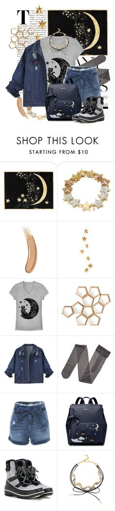 """""""moon warrior"""" by rubystripes ❤ liked on Polyvore featuring Betsey Johnson, Gucci, Livingly, Fifth Sun, Eichholtz, Gerbe, Bebe, SOREL and BaubleBar"""