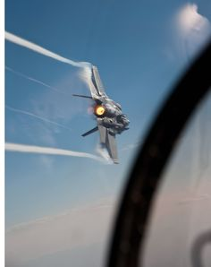 An F-35 mid-flight as taken from the cockpit of another plane