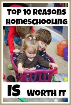 Top Ten Reasons Homeschooling is Worth It from @{1plus1plus1} Carisa