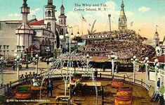 The Whip and The Top rides at Luna Park