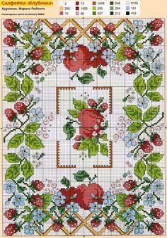 Салфетка с полевыми цветами