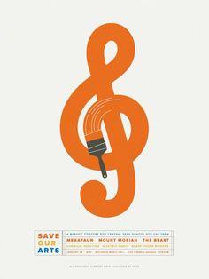 concert poster design | Save Our Arts