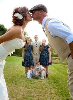Moore Barn Wedding - blended family wedding photo - Photo By DeAnn Mitchell Photography More