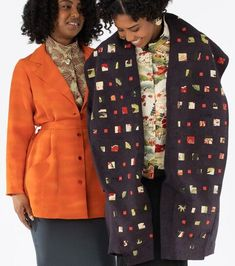 Ann Williamson designs exquisite, one-of-a-kind coats and jackets featuring beading, applique, and vintage kimono silks. Vintage Kimono, Clothing Websites, Japanese Kimono, Cycling Outfit, Handmade Clothes, Wearable Art, Blazer, Silk, Ann