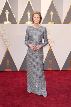 Stunning At The Oscars! Oscar Red Carpet Fashion 2016 | The Well Appointed House Blog | Charlotte Rampling wearing Armani Prive