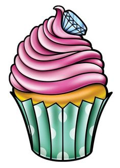 Cupcake-Just 4 Girls Temporary Tattoo