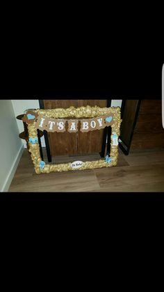 #selfmade #photo #frame #babyshower #boy #gold