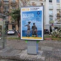 Publicidad mupi Valencia - En un lugar del Quijote
