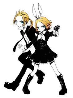 vocaloid secret police cosplay | Character Name: Kagamine Rin and Len Kagamine