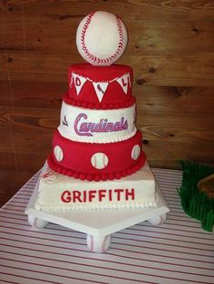 Incredible 54 Best St Louis Cardinals Cakes Images Cardinals Cupcake Funny Birthday Cards Online Fluifree Goldxyz